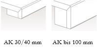 Kantenvarianten Naturstein / Quarz